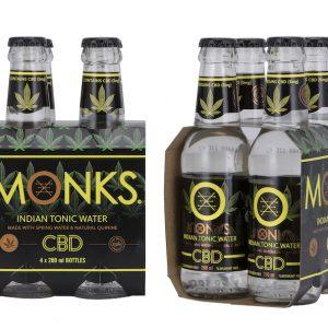 Monks CBD Indian Tonic (Sparkling) Cannabidiol Enhanced